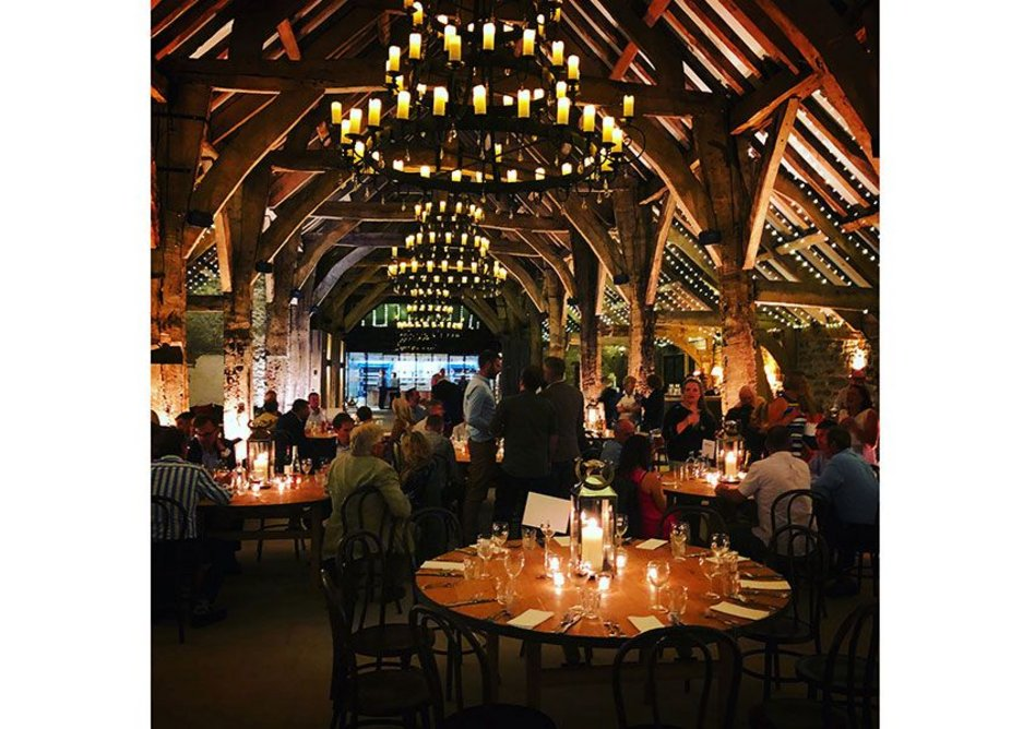 More tables than tithes. The Great Barn, Bolton Abbey, Skipton. Pearce Bottomley Architects, RIBA regional award and regional conservation award 2019. Credit Thomas Robbins