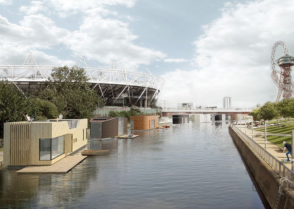 Floating homes Olympic site.