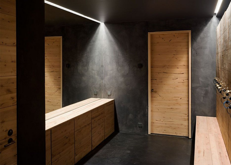 Changing and locker room