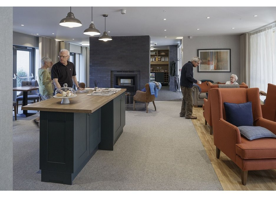 The communal living room at Proctor and Matthews Architects' Chapter House for PegasusLife, Lichfield.