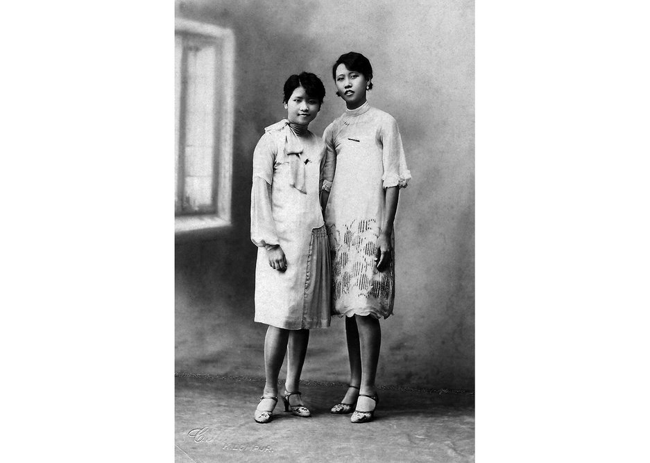 Arriving from Malaya in 1930, sisters Angeline Yuen Mo-Ting and Esther Yuen Mo-Yow. Courtesy Ivan Ho.