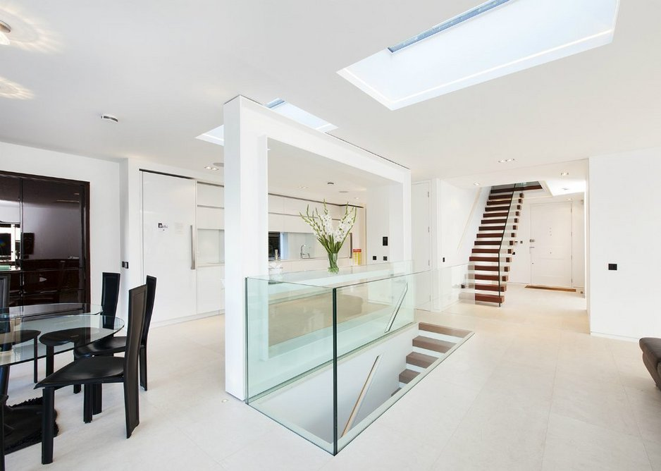 Two Skyview skylights positioned above a staircase: Sunsquare has now been awarded SBD Police Preferred Specification status for its entire range.