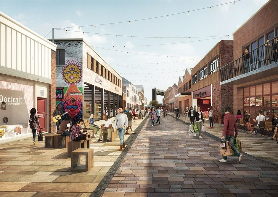 Construction is under way to transform Humber Street into a pedestrian-friendly zone.