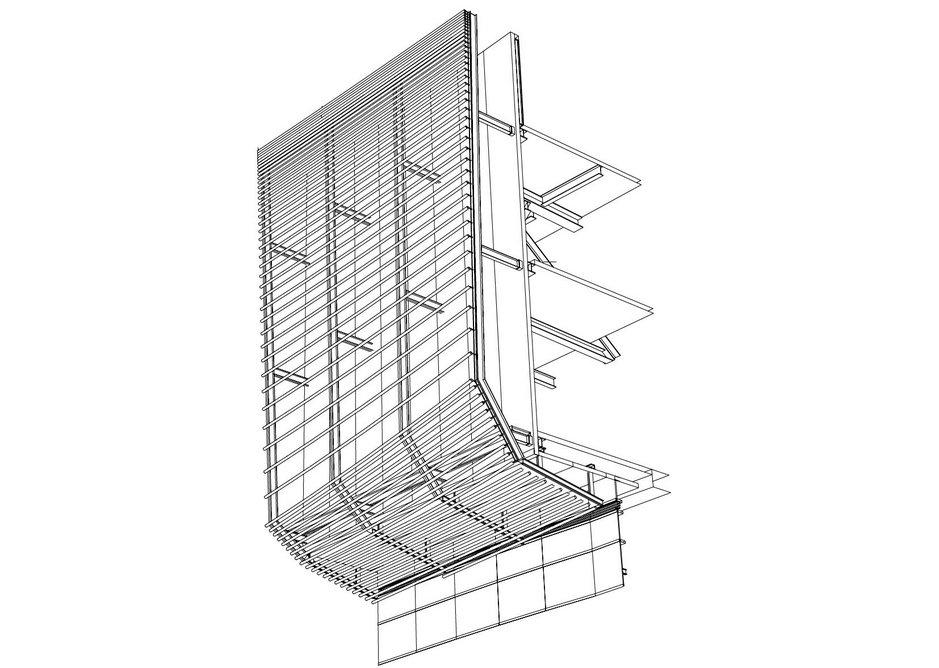 Cinema pipe facade diagram.