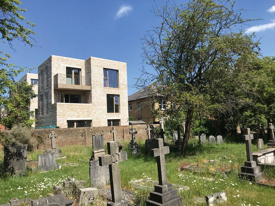 Kristofer Adelaide Architecture's nine-unit infill scheme at St Mary's Court in Hanwell.