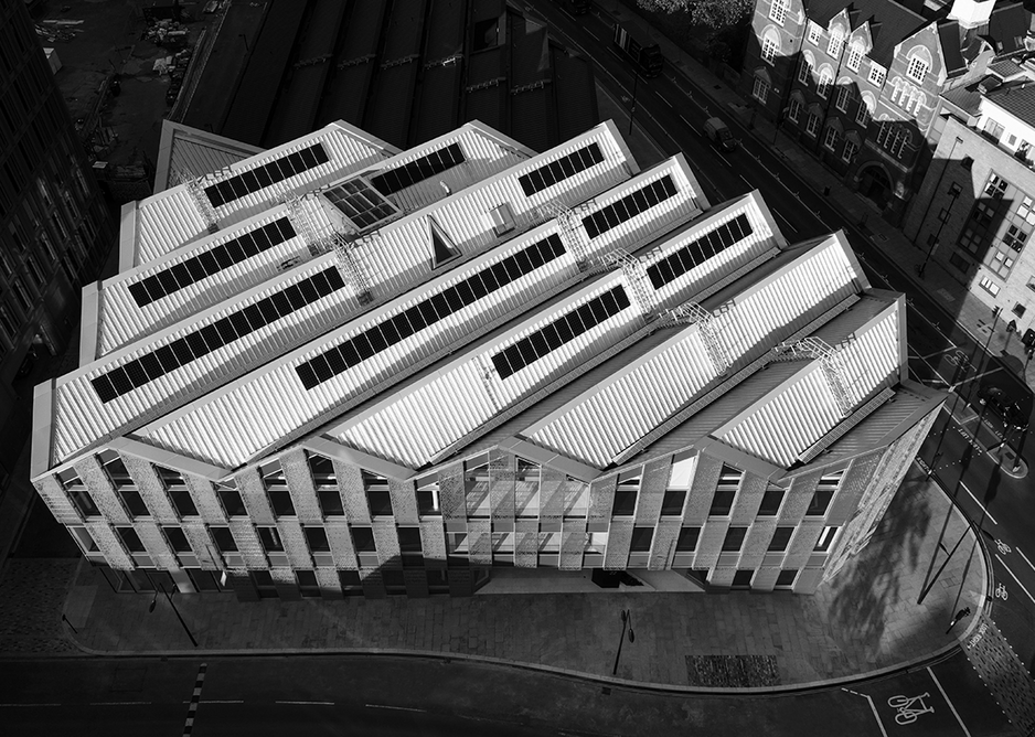 Aerial shot of 22 Handyside Street.  Photo ©Brendan Bell