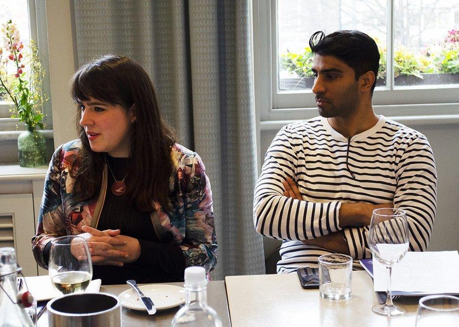 From left: Madeleine Kessler and Architecture Initiative architect Muneeb David.