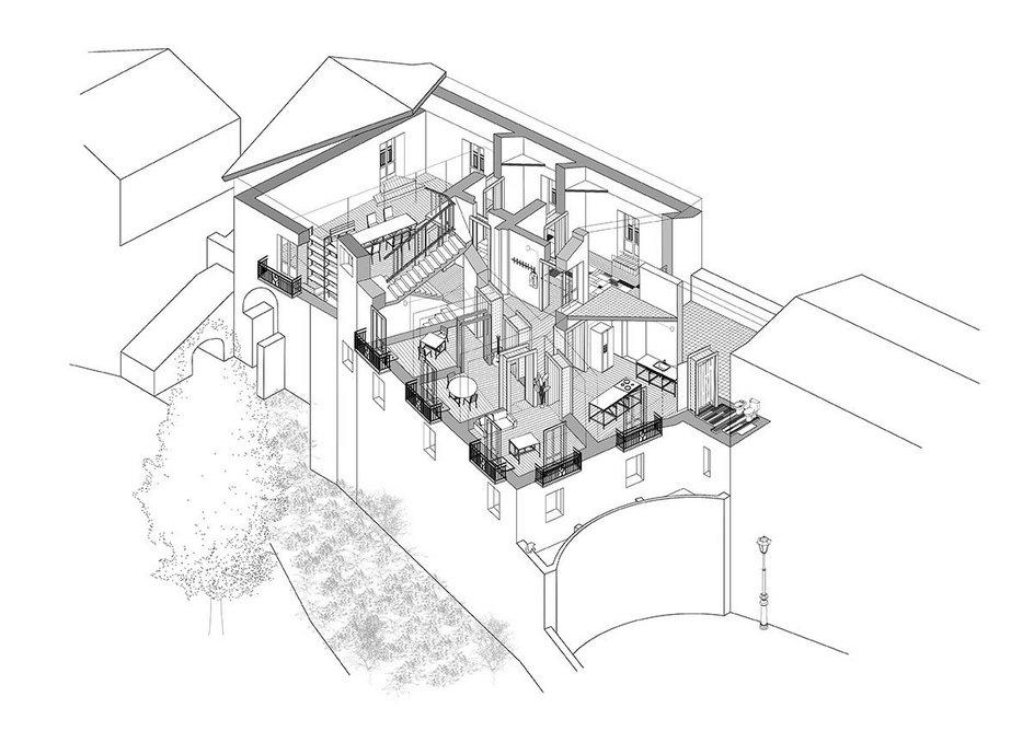 Drawing of the Casa di Belmondo by Joe Douglas.