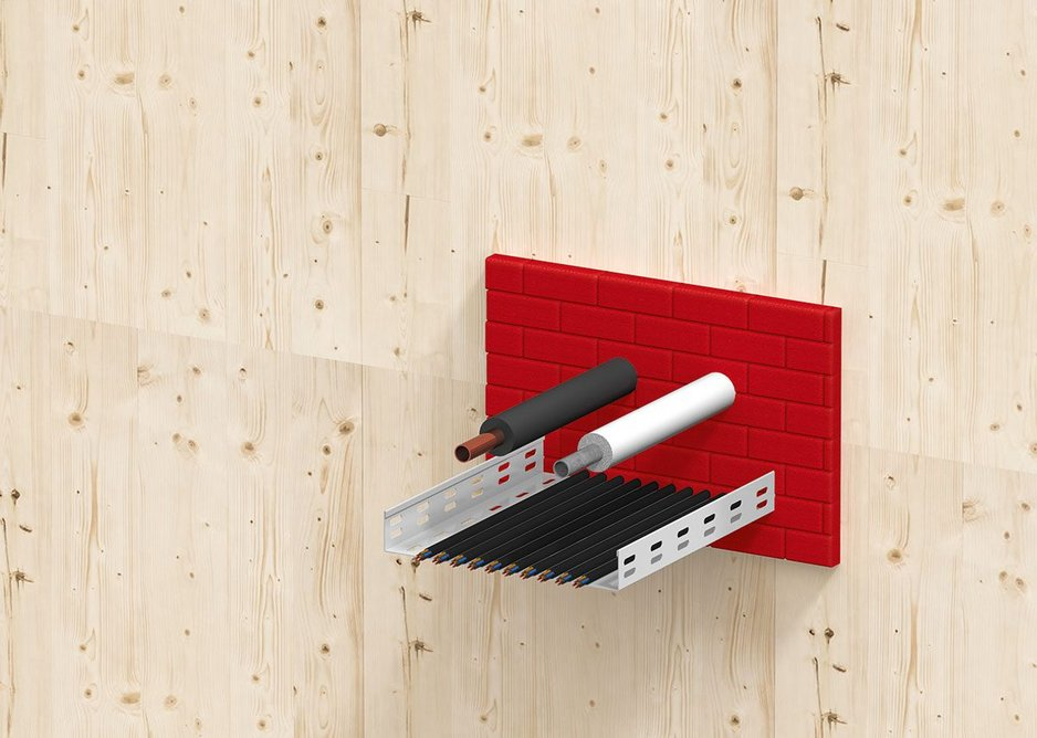Brockett outlined various means that Hilti had employed, such as the CFS-SL sleeve and CFS-CC collar, to mitigate the potential fire effects on solid CLT construction.