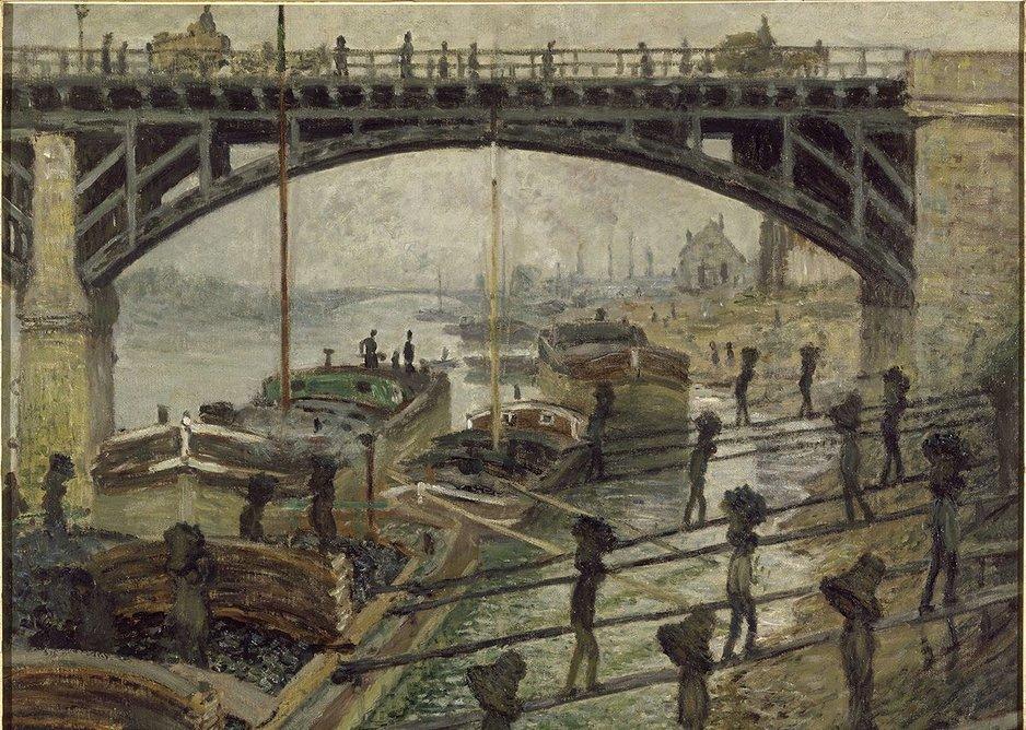 Claude Monet, The Coal-heavers (Les Déchargeurs de charbon), 1875. Musée d'Orsay, Paris (RF1993.21).