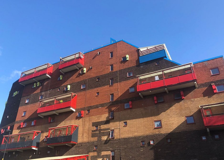 The outer face of the Byker Wall.