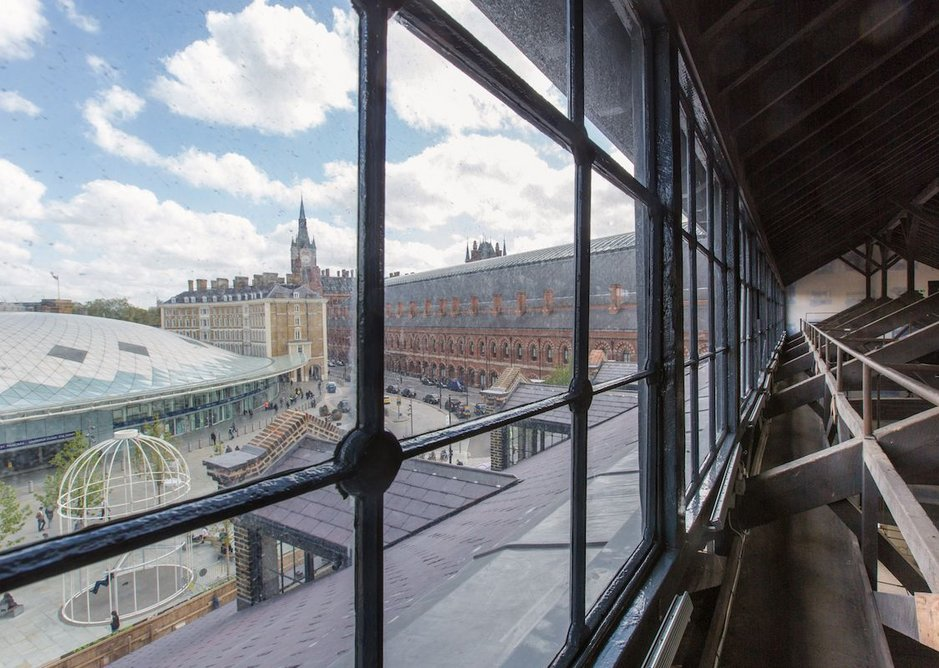 The restored gymnasium is a landmark at King's Cross.