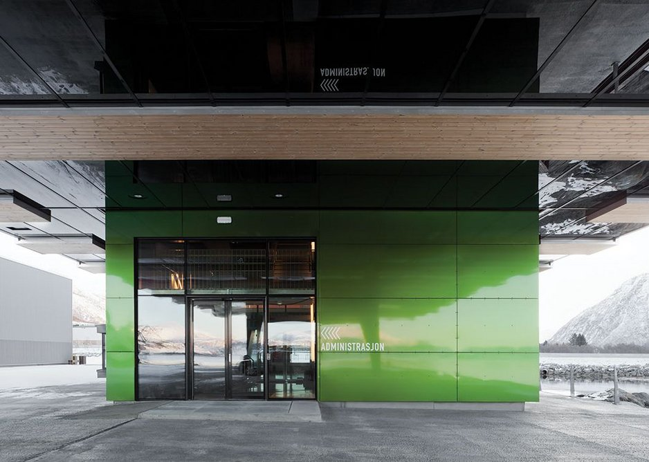 A brightly coloured entrance is instantly recognisable.