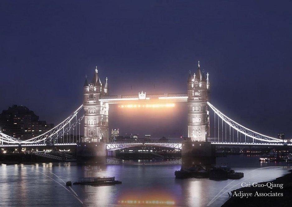 Cai Guo-Qiang – 'London Bridge is Falling Down' (Tower Bridge).