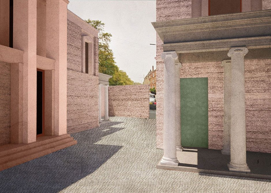 Timothy Smith & Jonathan Taylor's Double Villa drawing on the work of Alexander Greek Thomson.