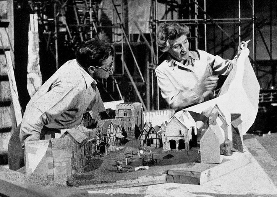 Art director Carmen Dillon at Denham Studios, c 1951.