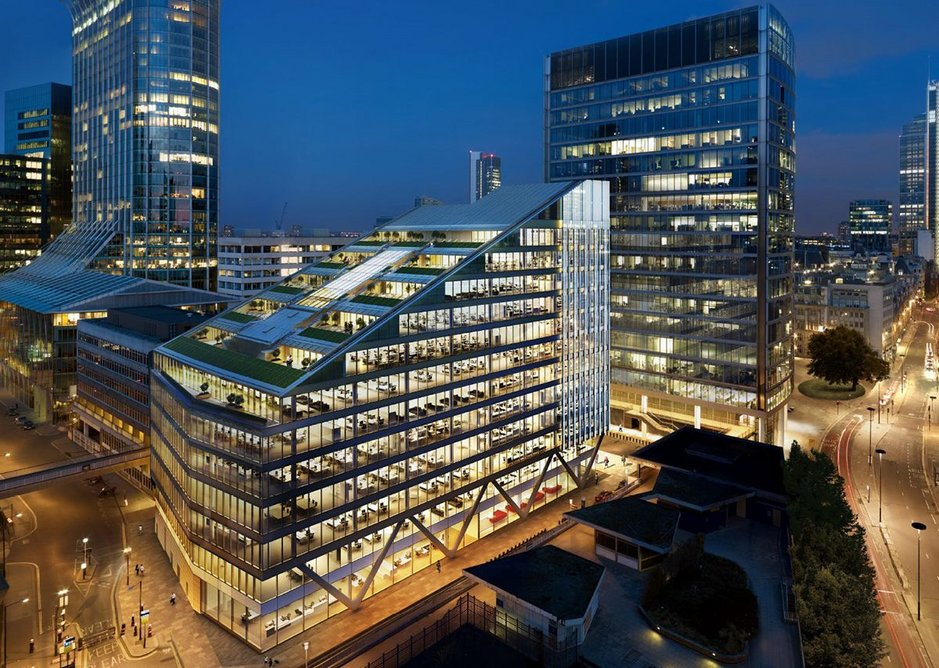 Moorgate Exchange maximises lettable space using the attributes of steel. HKR Architects with steelwork by Severfield.
