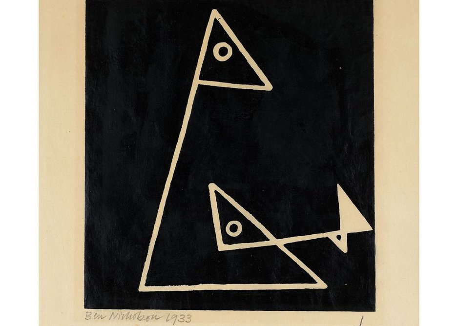 Ben Nicholson, Foxy and Frankie (1) 1933. Tate © Angela Verren Taunt 2018. From The Bauhaus in Britain, display at Tate Britain, part of the Insiders/Outsiders festival.