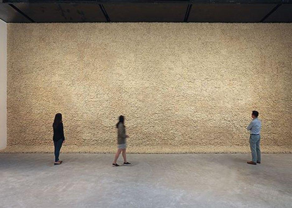 Moss wall, 1994, Olafur Eliasson.  Installation view: Leeum Samsung Museum of Art, Seoul, 2016. Photo: Hyunsoo Kim © 1994 Olafur Eliasson. Courtesy of the artist, neugerriemschneider, Berlin; Tanya Bonakdar Gallery, New York/Los Angeles.