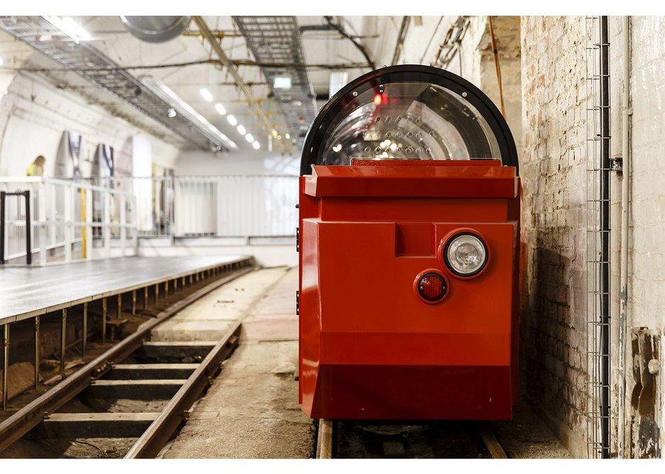 New Mail Rail passenger train.