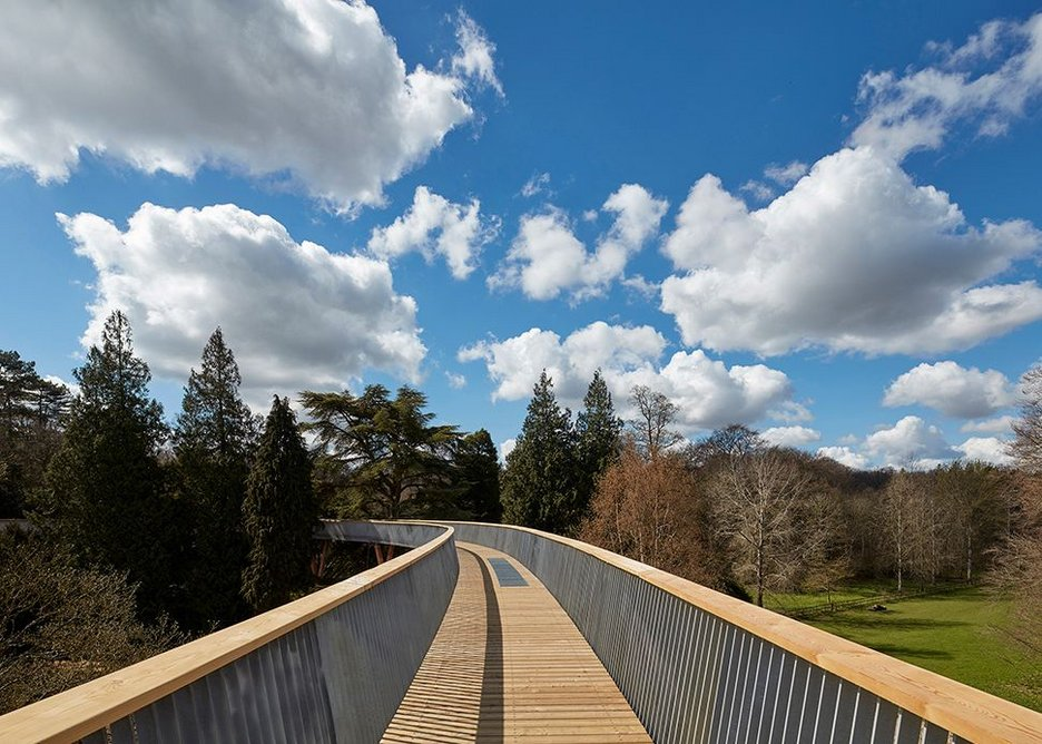 Although this is a hybrid timber and steel structure, timber dominates the visitor's experience...