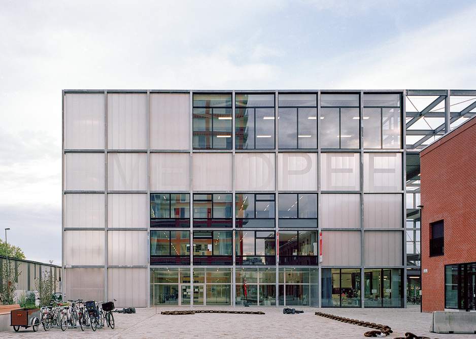 Melopee is both a school and a social facility for the new dockside community.