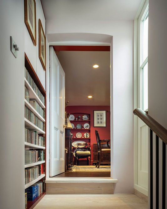View into dining room from study.