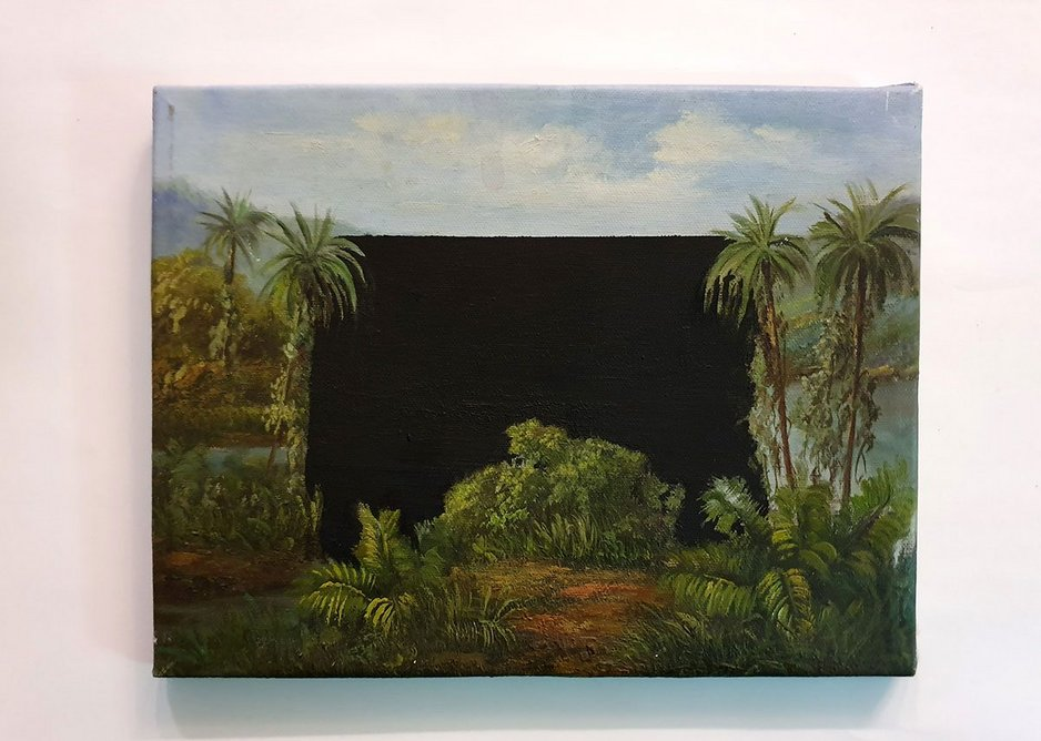 Sam Jacob is planning to use any extra spare time on a variety of creativity projects including his series of over-painted oil paintings, with the working title of Blind Spot.