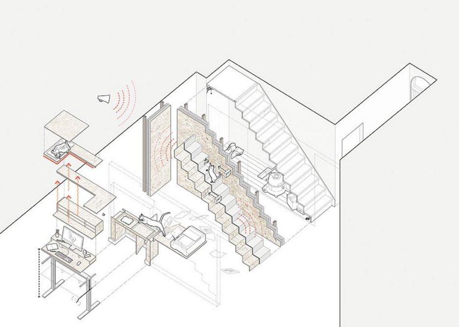 The axonometric projection meets the Ikea manual.