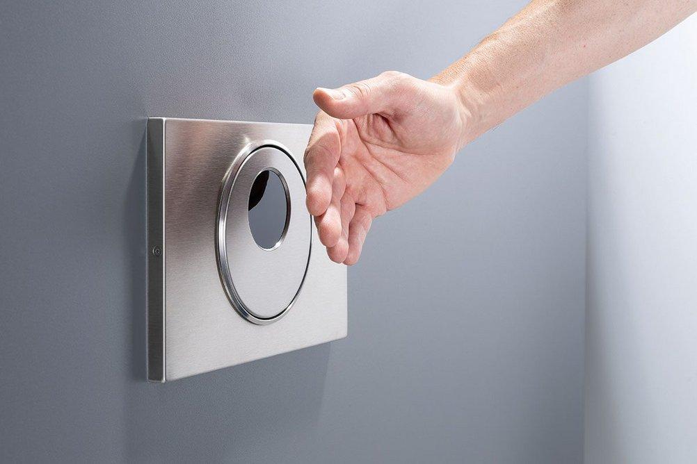 Geberit Sigma10 touchless WC flush.