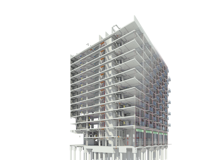 The prototype was linked to a BIM model of the Quintain project at Wembley Park.