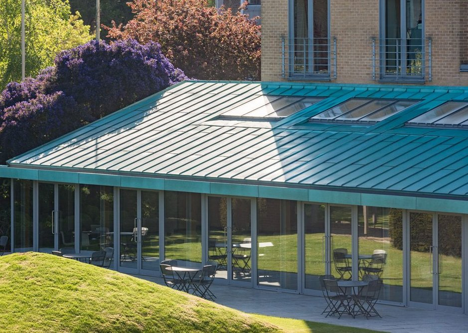 The Rooflight Company's Conservation design has slim clean lines and a low-profile to match the roofline.