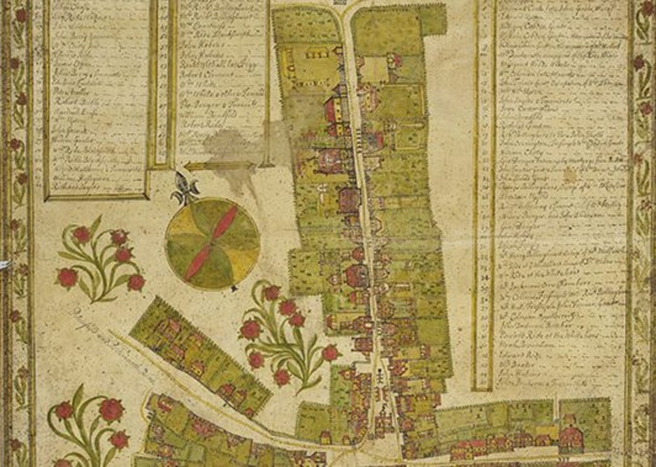 Plan and flattened elevations showing more than one could do alone, Haslemere 1735. Bodleian Library, University of Oxford.