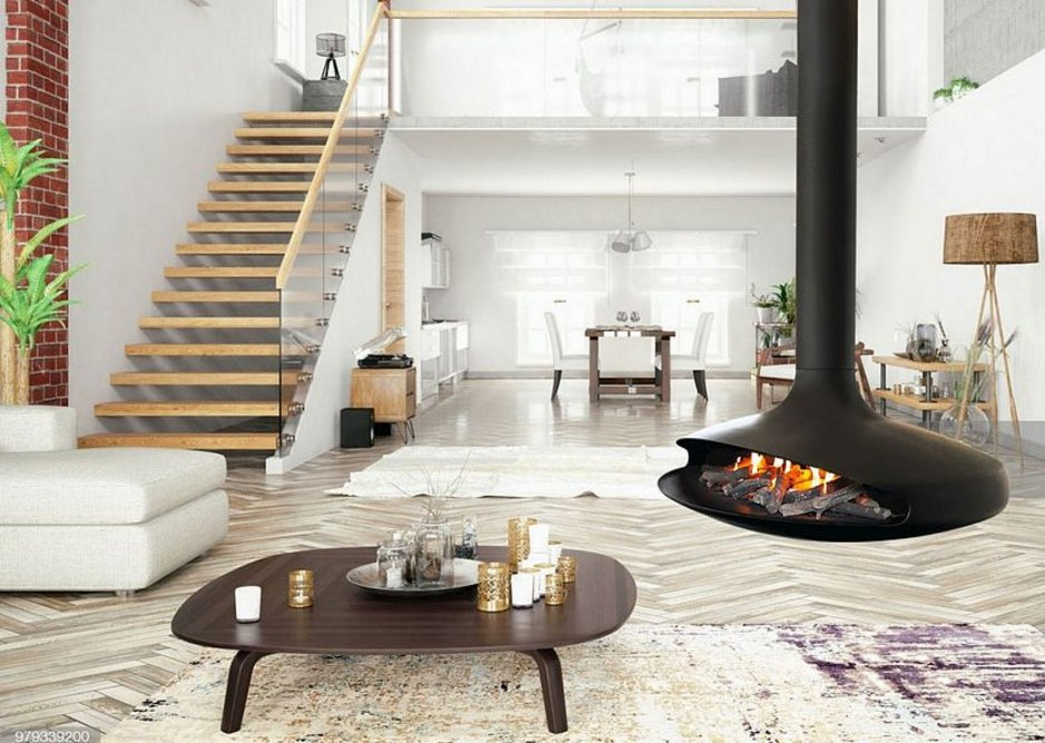 Focus was the first company to suspend a fireplace in the centre of a room.