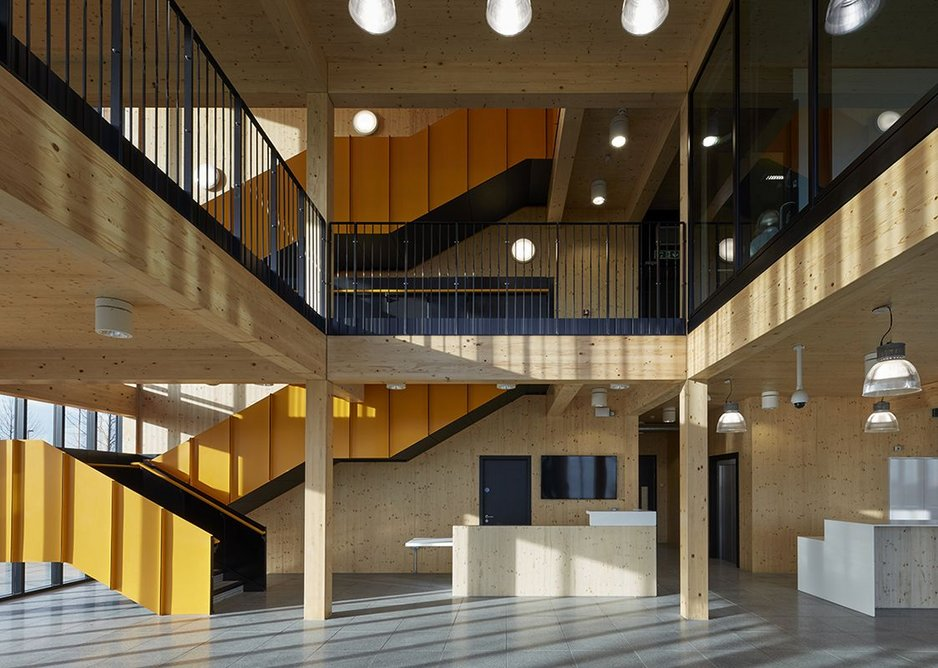 Commercial and leisure - Alconbury Weald Club, fine community spaces with CLT structure by AHMM.