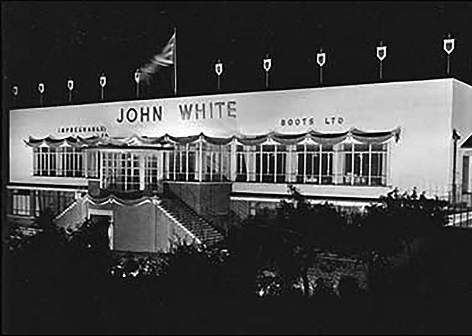 The front elevation and projecting sun room at John White Lime Street Factory as photographed, already closed and dilapidating in 1997.