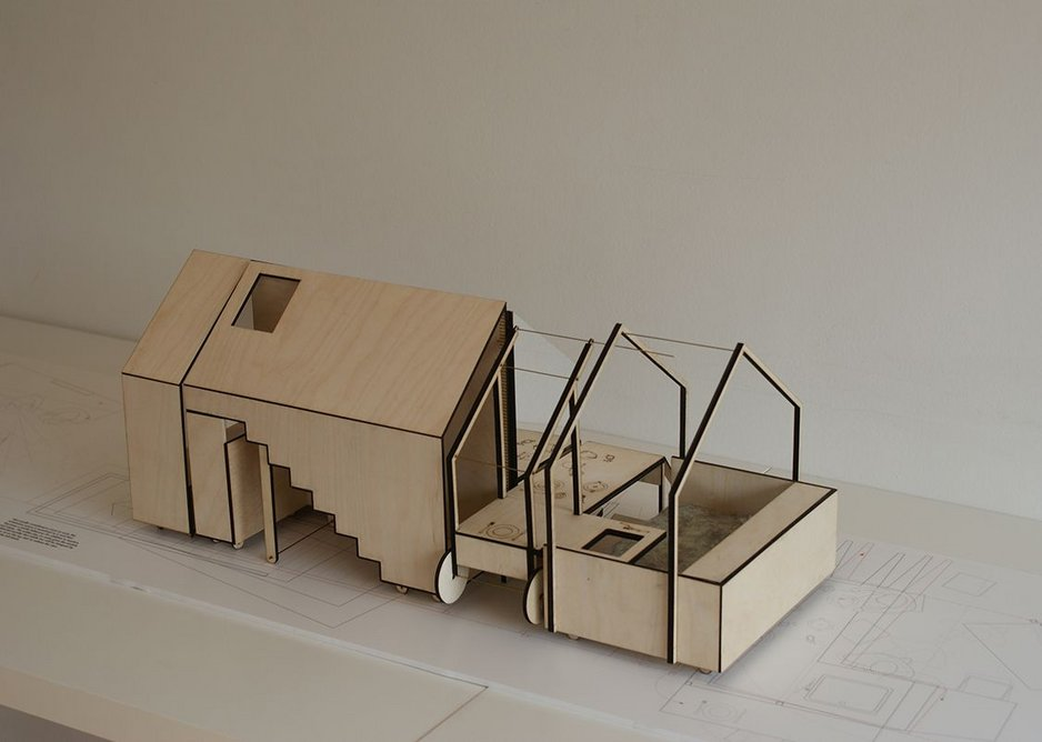 Carl Turner Architects' models for the Home from Home installation at MUDE in Lisbon