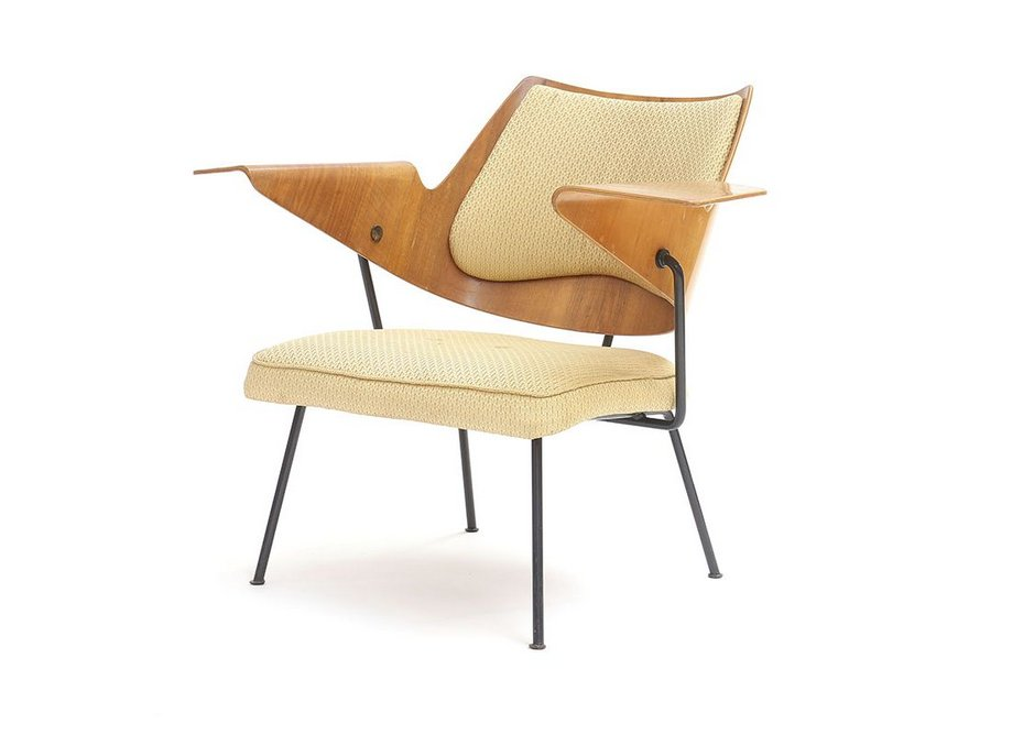 Day designed all the seating for the Royal Festival Hall, here his Festival Hall armchair, 1951.