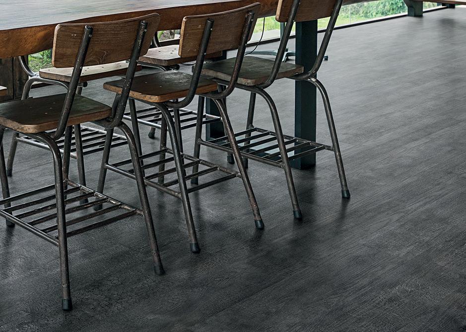 Tarkett iD Inspiration Charred Wood Naturals LVT flooring.
