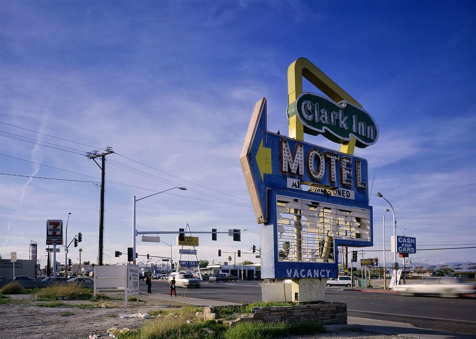 The Clark Inn Motel Sign by Fred Sigman (1995), from the new book Motel Vegas