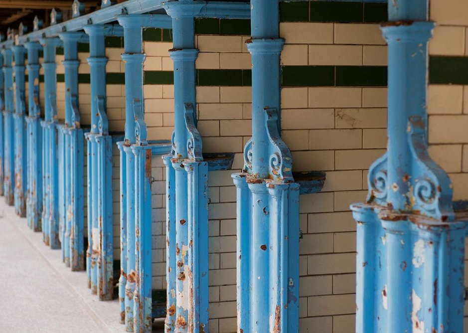 Victoria Baths changing rooms, Manchester.