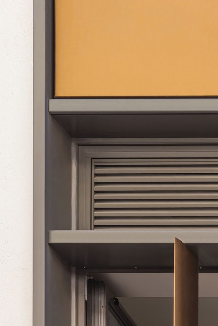 Combining a standard louvre panel with additions offers seamless integration with the facade.