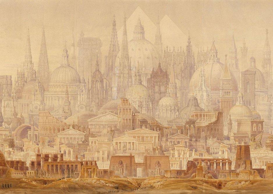 C.R. Cockerell's The Professor's Dream of 1848. But he built the Ashmolean.