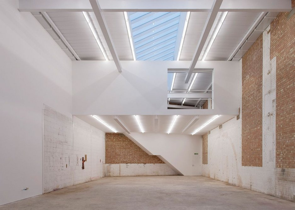 Studio V: the refurbished sculpture-making space, but with a sense of the original retained.