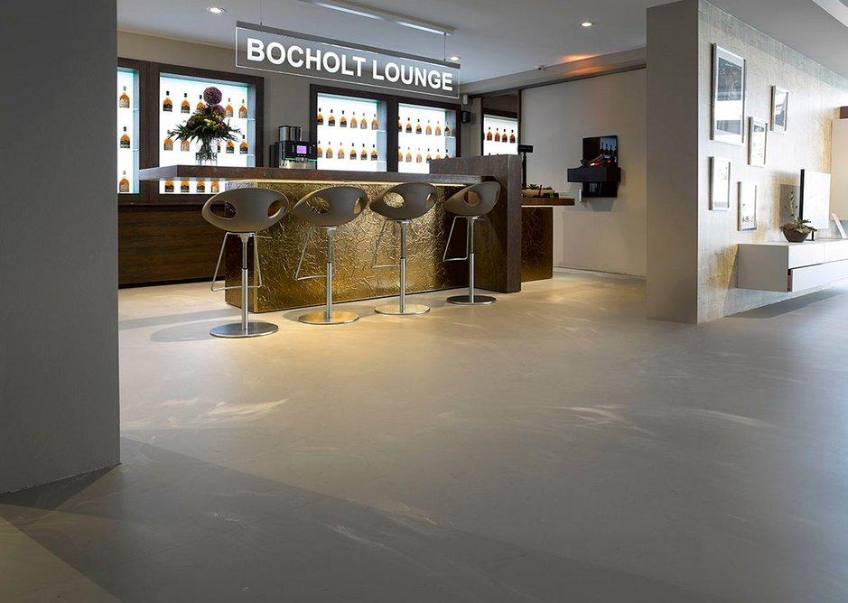 Arturo concrete-look floors allow unique flooring designs.