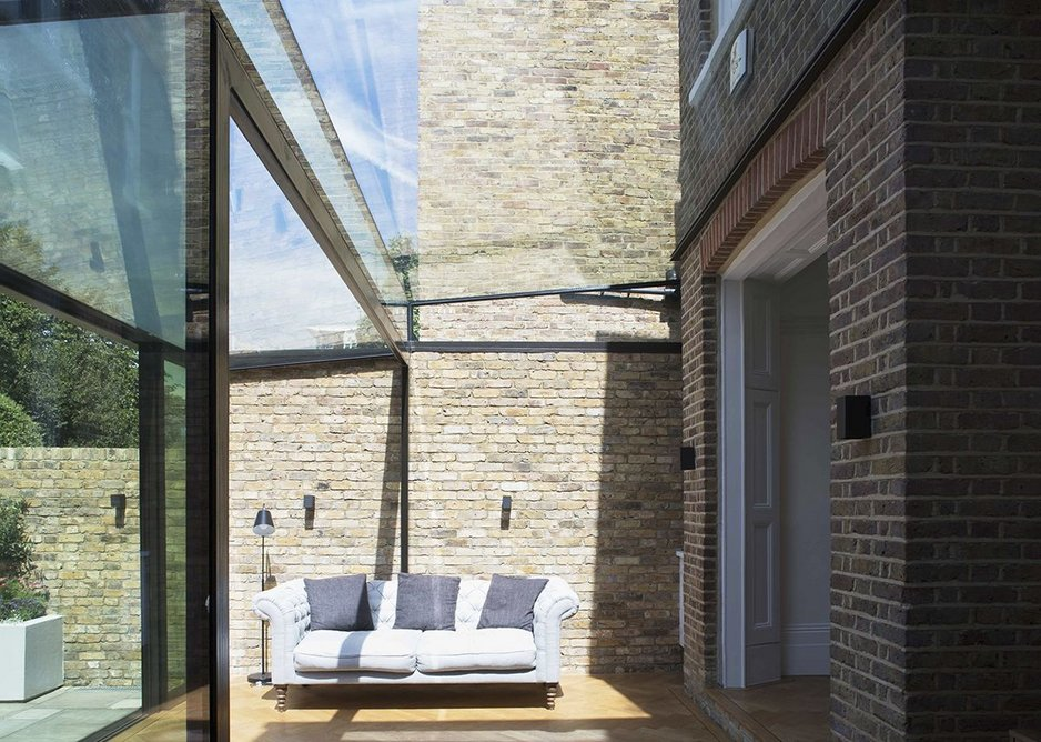 Maxlight glazing blurs the boundary between inside and out.