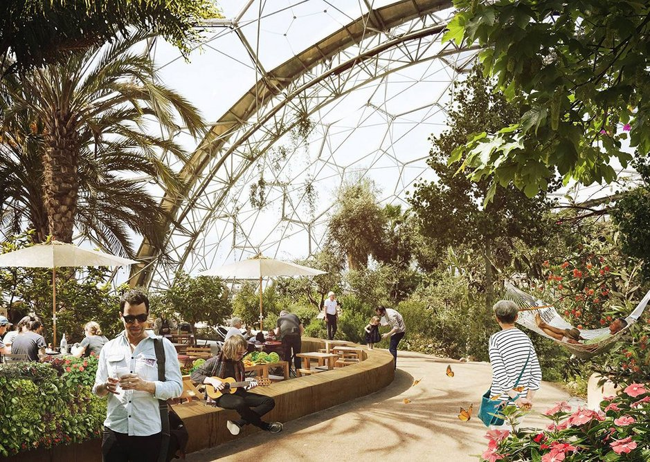 The Biodome marketplace and interior is intended as a place for health and wellbeing.