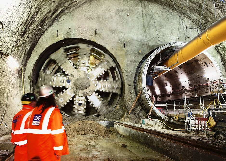 Ego-less? Ove Arup set up a company that could thrive without him, here at Crossrail, Stepney.