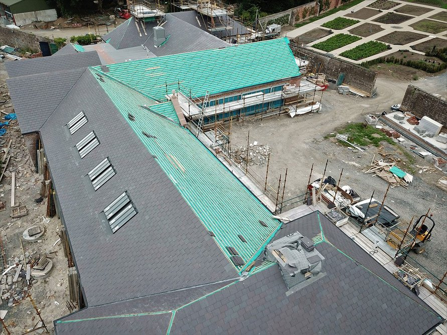 Roofshield roofing membrane eliminates the incidence of interstitial condensation in pitched roofs.