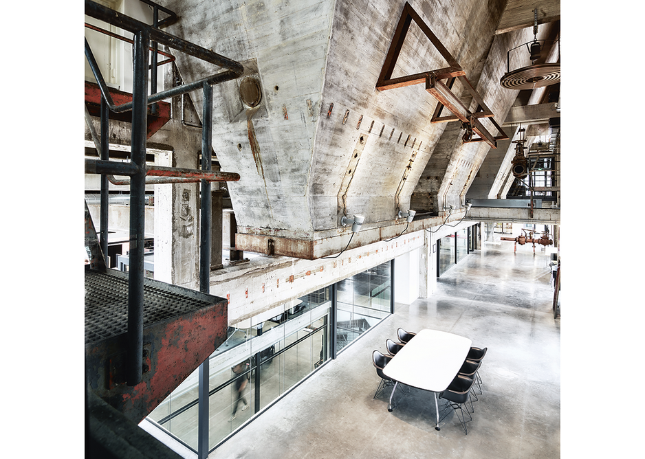 Coal chutes atrium where occupiers can come together to collaborate.